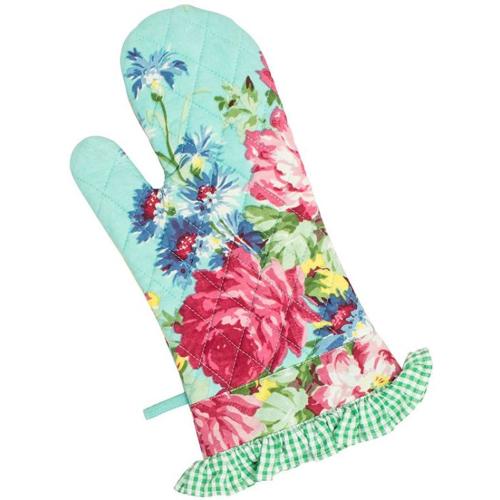 Floral Patchwork Oven Mitt