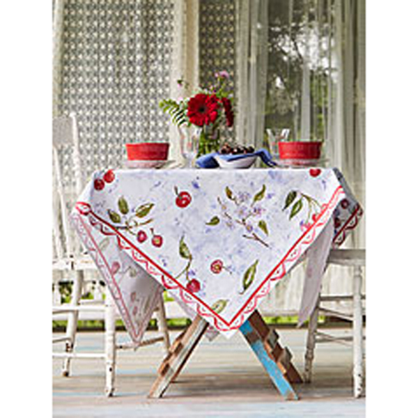 SALE!  Watercolor Cherries Tablecloth