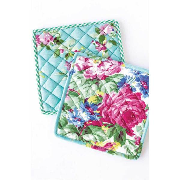 LTD QTY!  Spring Patchwork Potholder Set