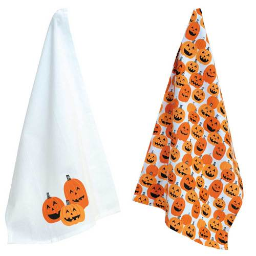 Jack O Lanterns Tea Towel Set