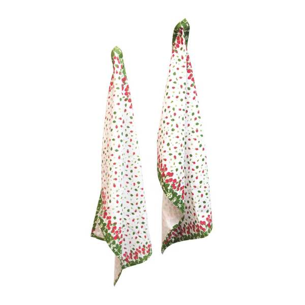 SALE!  Strawberry Season Tea Towels Set