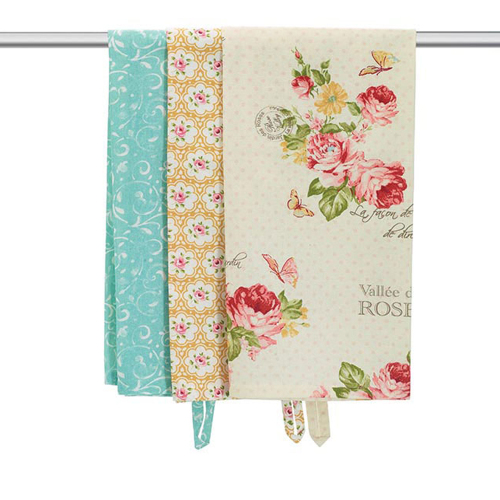 Pretty Rose Tea Towel Set