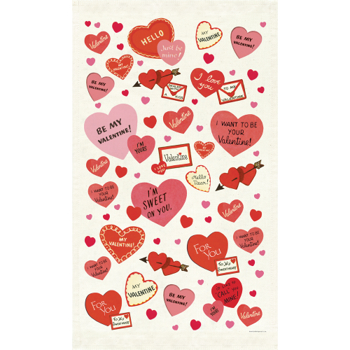 SALE!  Valentine Hearts Tea Towel