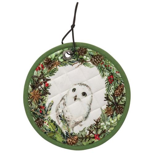 Snowy Owl Potholder