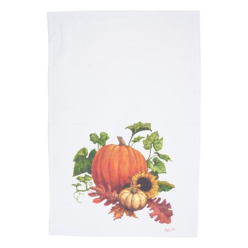 SOS!  Chalk Pumpkin Flour Sack Towel
