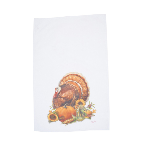 Chalk Turkey Flour Sack Towel
