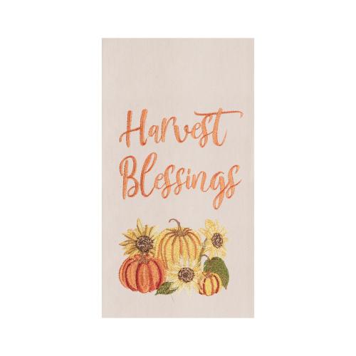 Harvest Blessings Embroidered Dishtowel
