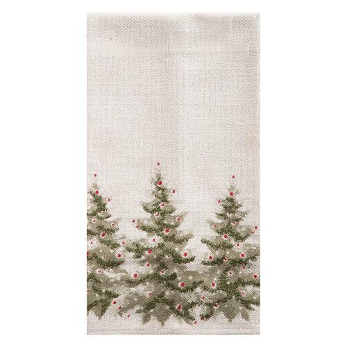 Winter Trees Embroidered Dishtowel