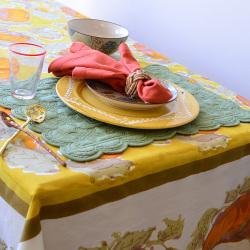LTD QTY!  Pumpkin Tablecloth