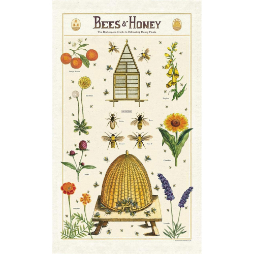 SOS!  Bees & Honey Tea Towel