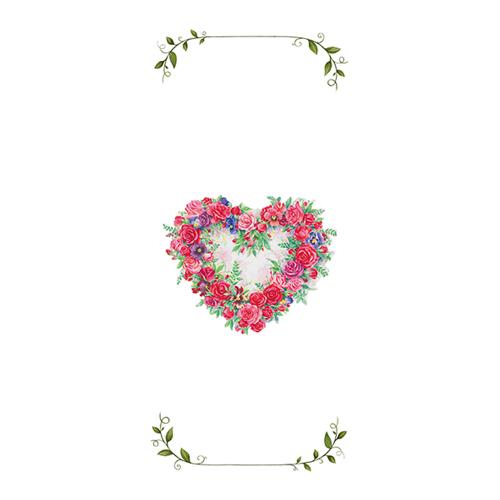 LTD QTY!  Rose Heart Tea Towel