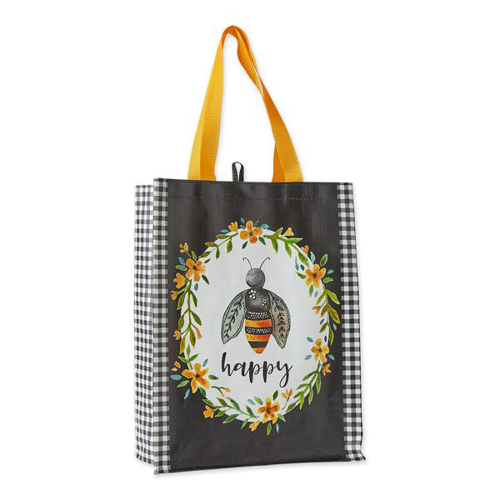 Bee Happy Reusable Tote Bag