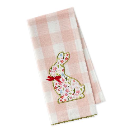Flower Bunny Detail Dishtowel