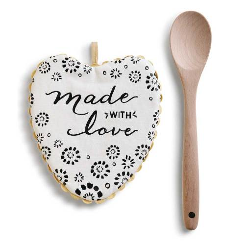 SALE!  Made with Love Hot Pad & Spoon Set