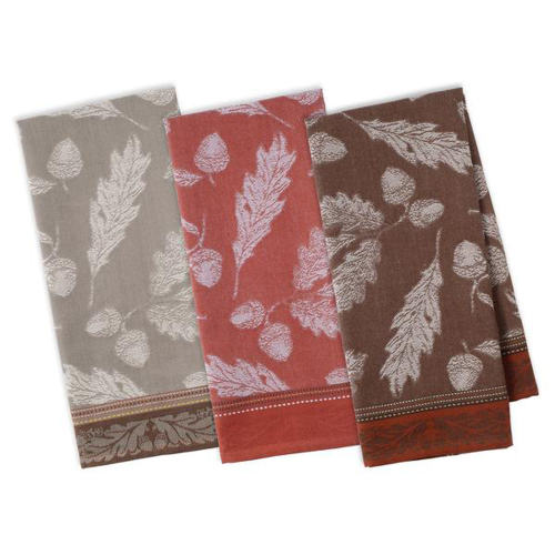 Acorn Autumn Jacquard Dishtowel Set