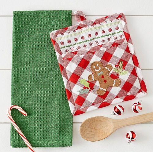 Gingerbread Man Potholder Gift Set