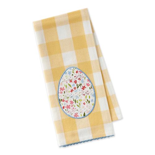 Lace Egg Detail Dishtowel