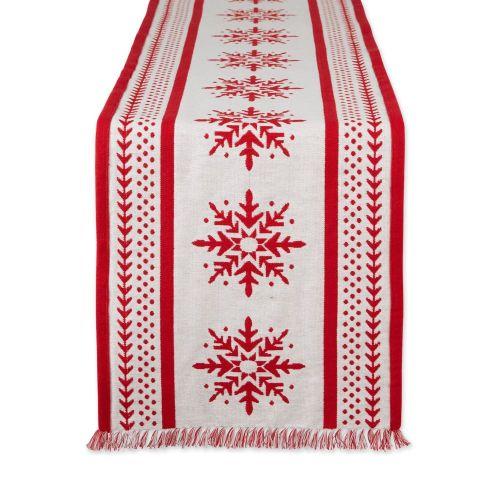 Nordic Snowflakes Jacquard Table Runner