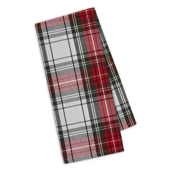 SOS!  Christmas Plaid Dishtowel