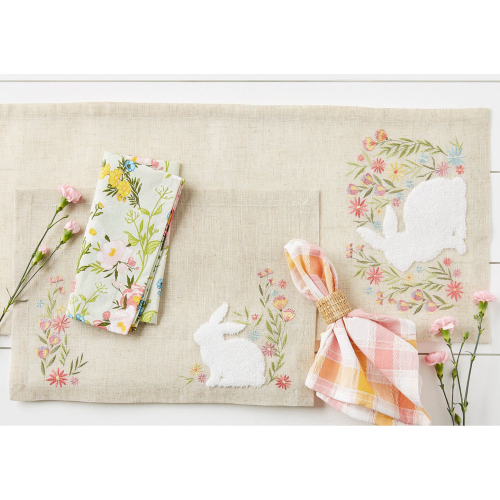 SALE!  Spring Meadow Embroidered Table Runner