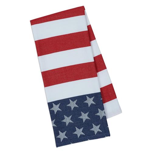 Stars & Stripes Jacquard Dishtowel