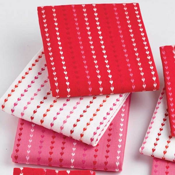 Hearts Dobby Stripes Dishtowel Set