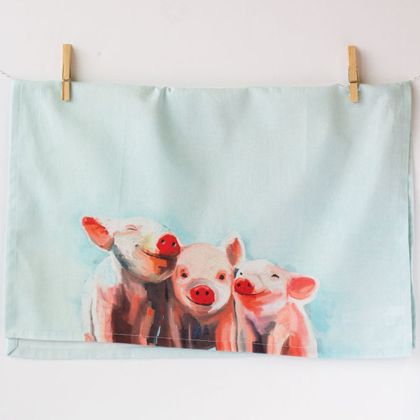 Three Little Piggies Kitchen Towel