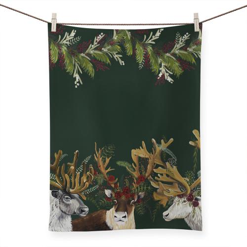 Antlers Abound Tea Towel