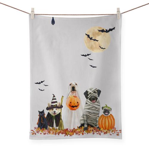 Halloween Pups Tea Towel