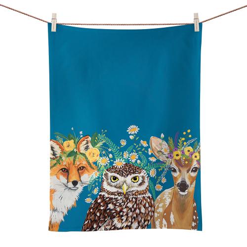 Woodland Friends Tea Towel