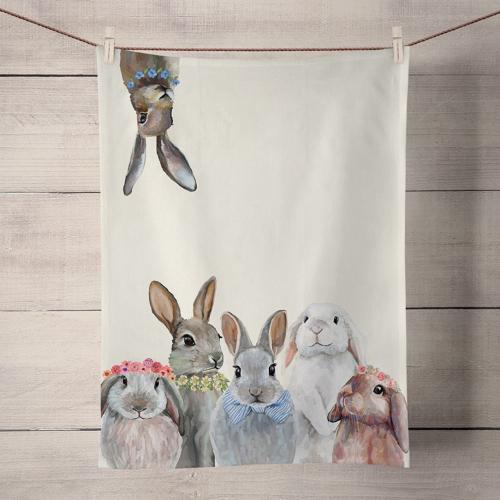 Bunny Bunch Tea Towel