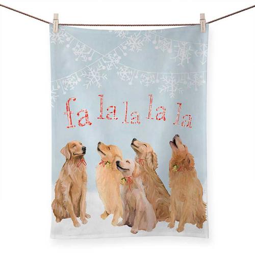 Five Goldens Sing Tea Towel