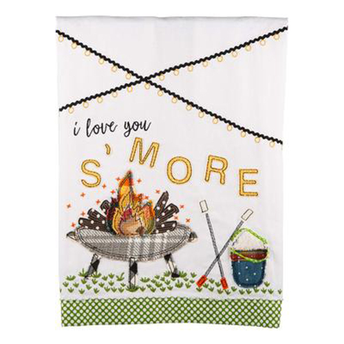 I Love You S'More Tea Towel