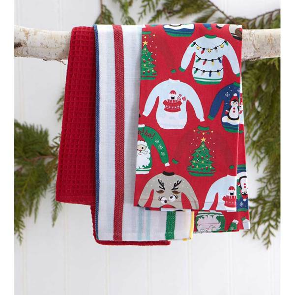 SALE!  Ugly Sweater Tea Towel Set