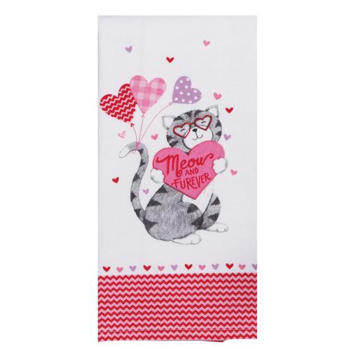 SOS!  Meow & Furrever Dishtowel