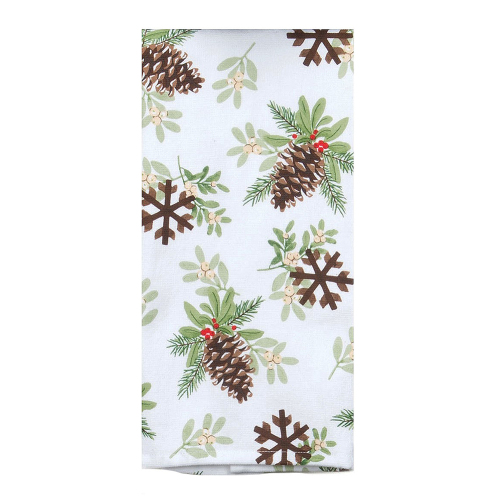 SOS!  Pinecones Terry Dishtowel