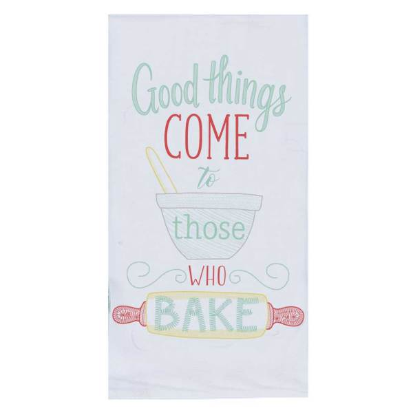 Good Things Embroidered Flour Sack Towel