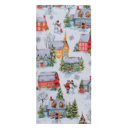 Christmas Village Terry Towel