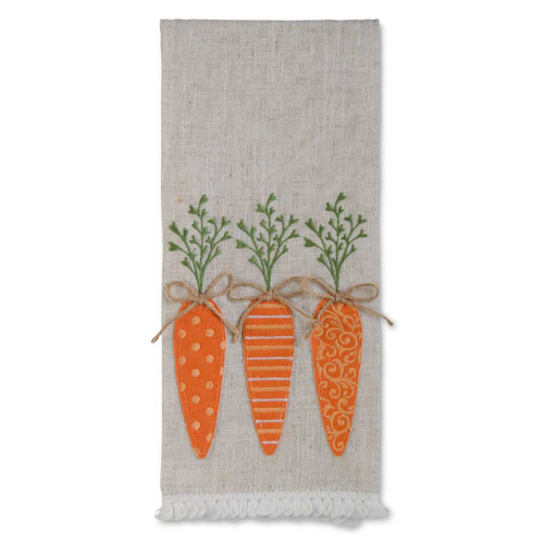 Carrots Linen Dishtowel