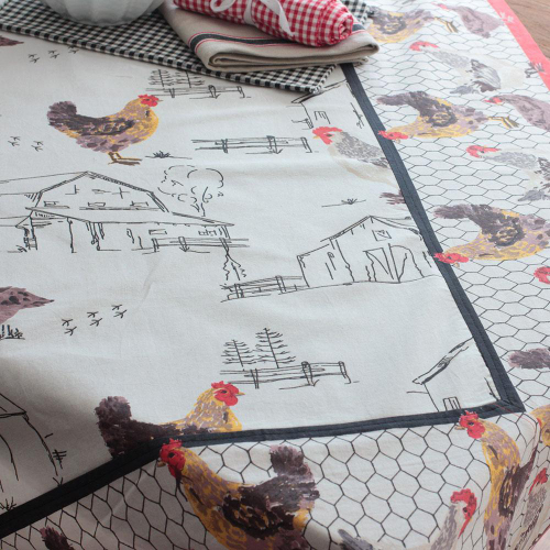 Chickens & Barns Tablecloth