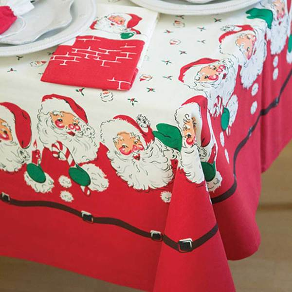 Jolly Santa Tablecloth