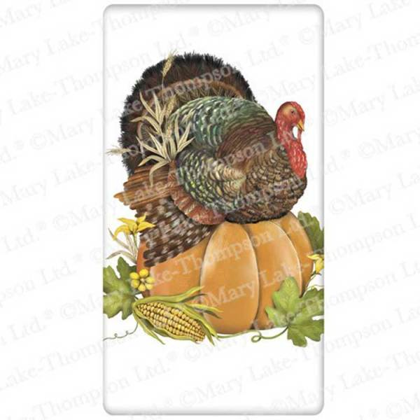 LTD QTY! Turkey on Pumpkin Flour Sack Towel