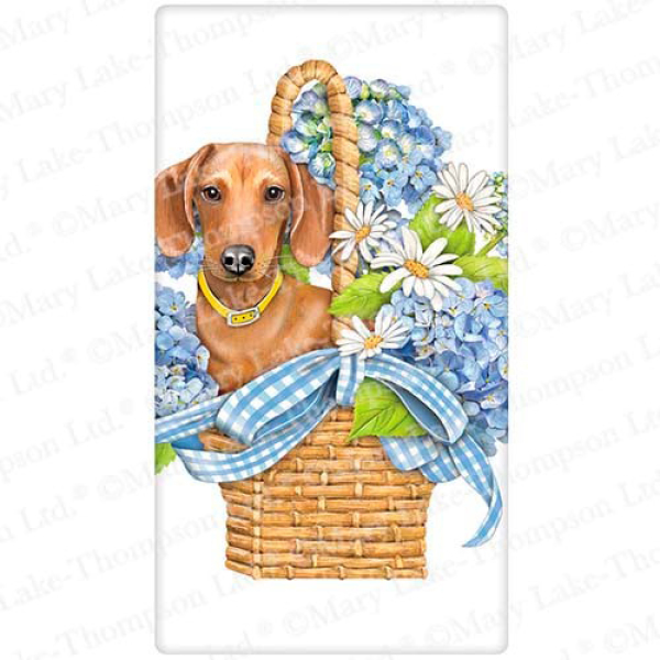 Doxie Basket Flour Sack Towel