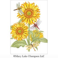 SALE!!  Sunflower With Dragonflies Flour Sack Towel