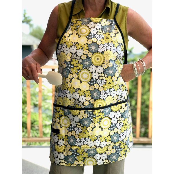 SALE! Floral Wipeable Apron