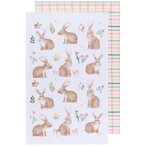 SALE!  Hoppy Easter Dishtowel Set