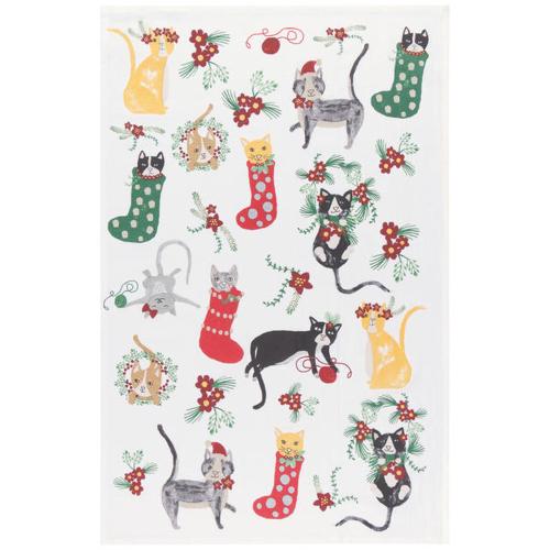 Meowy Christmas Flour Sack Towel
