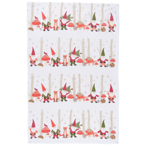 Gnomes Dishtowel