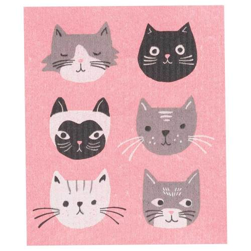Cat's Meow Swedish Dishcloth