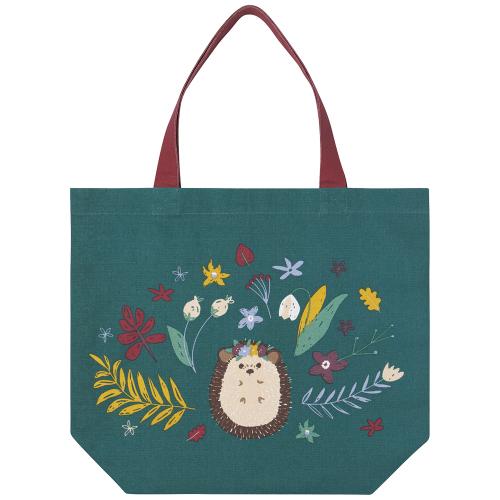 Flower Hedgehog Tote Bag